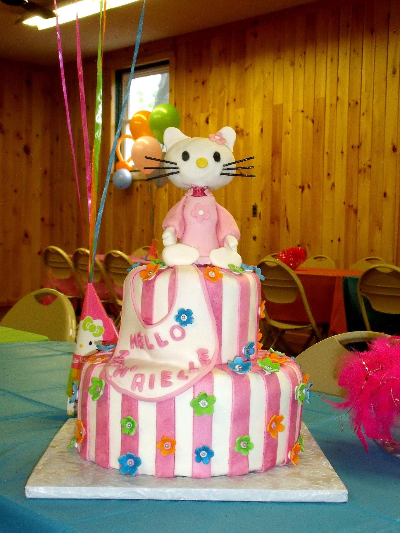 Hello Kitty Baby Shower Cake Main View