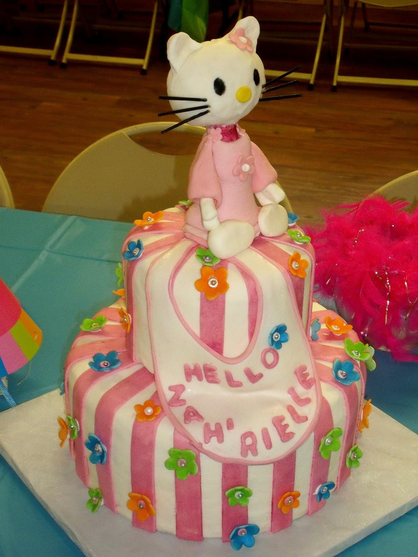 Hello Kitty Baby Shower Cake View 1