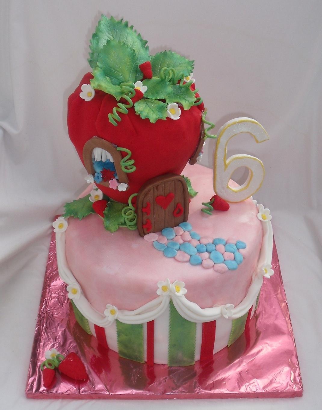Fondant Cake For Girls Strawberry