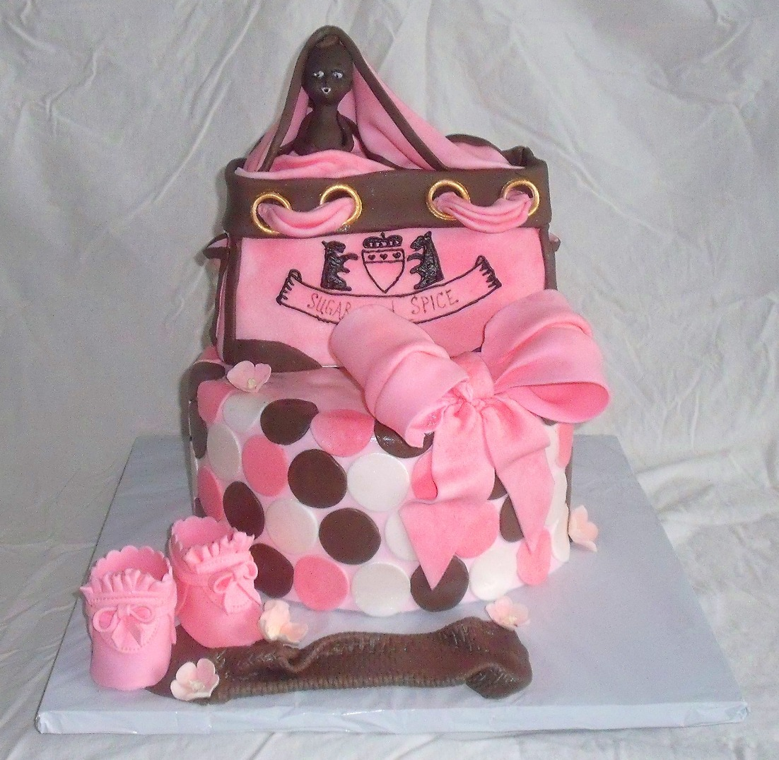 Juicy Couture Diaper Bag Fondant Cake
