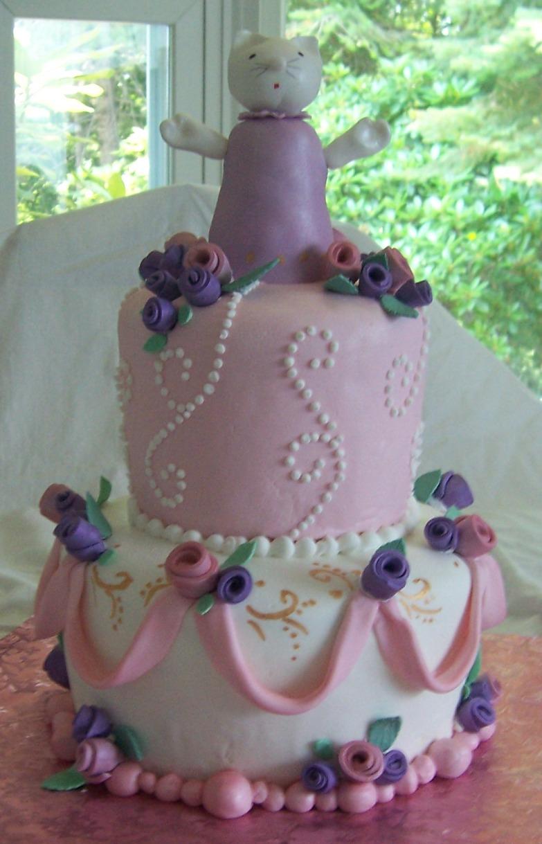 6 Year Old Alannahs Miss Kitty Birthday Cake