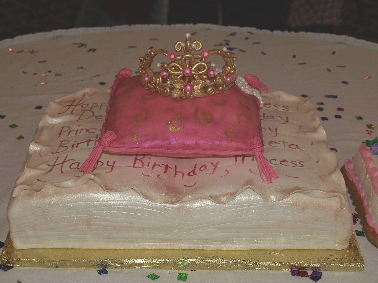 Princess themed cake of fondant covered antique book ...