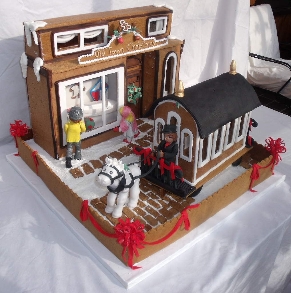 of gingerbread creation with all edible gumpaste, fondant, gingerbread ...