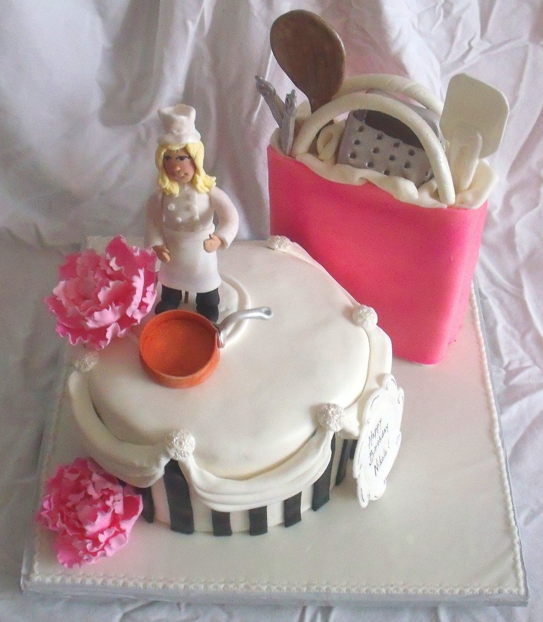 Pin singer s birthday cake was created by emily duncan for Chef themed kitchen ideas