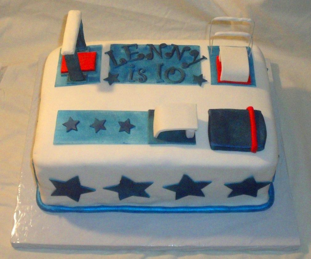 Gymnastics Birthday Cake Main View