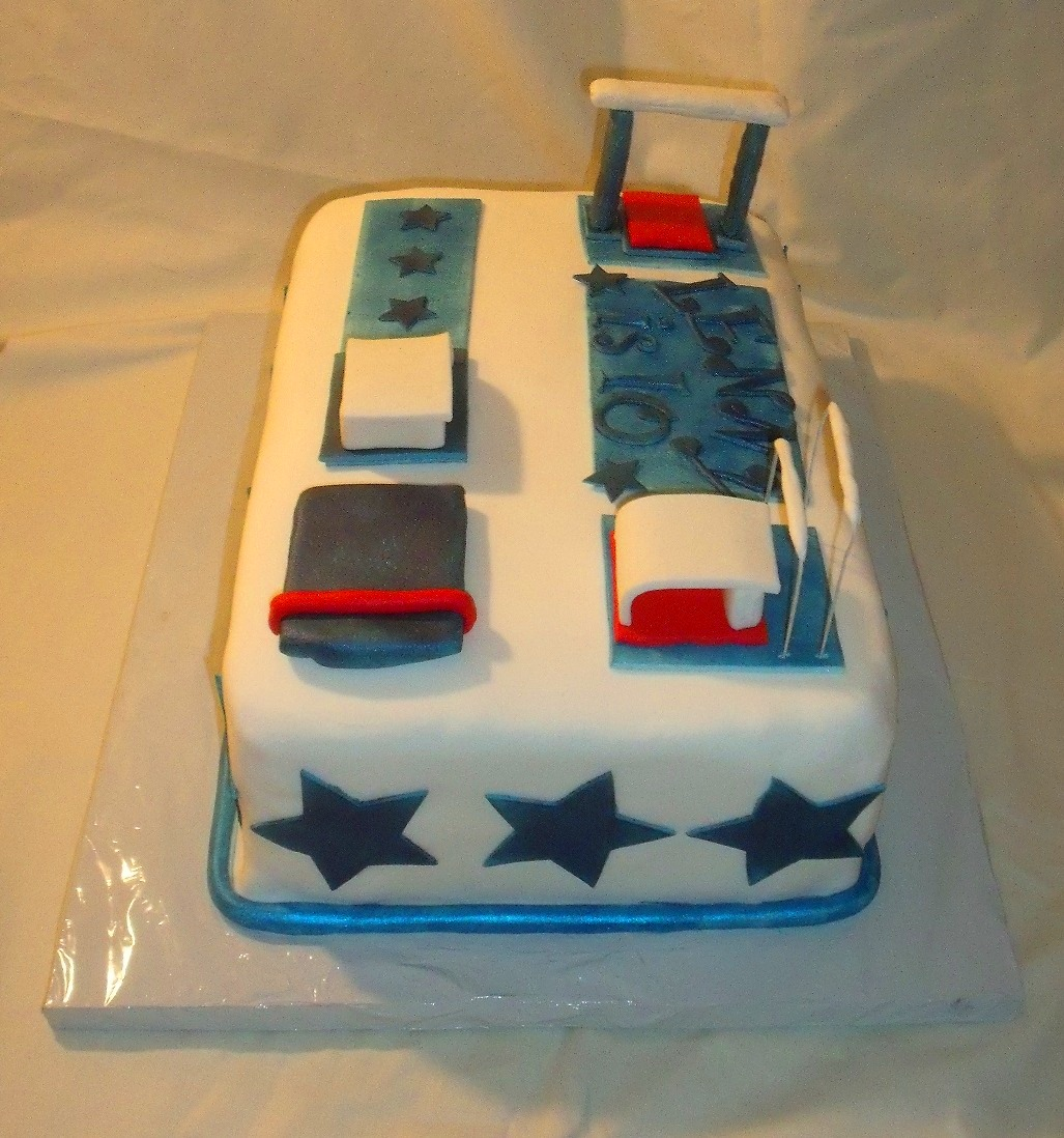 Gymnastics Birthday Cake Side View