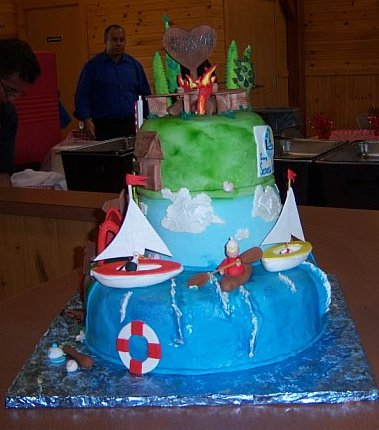 Cake Decor And More E U : Main front view of the summer camp cake with sailboats ...