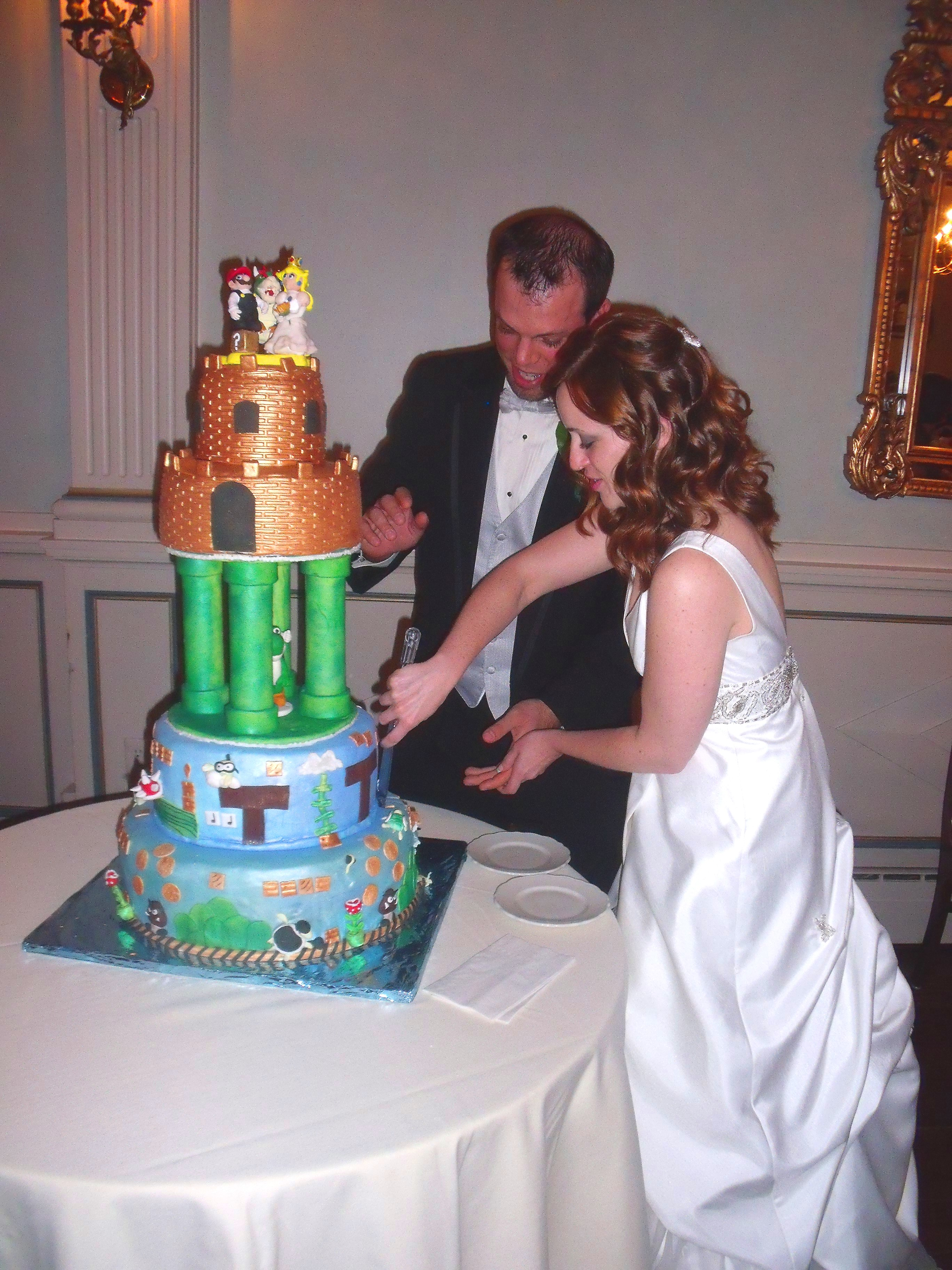Groom And Bride Cake Top