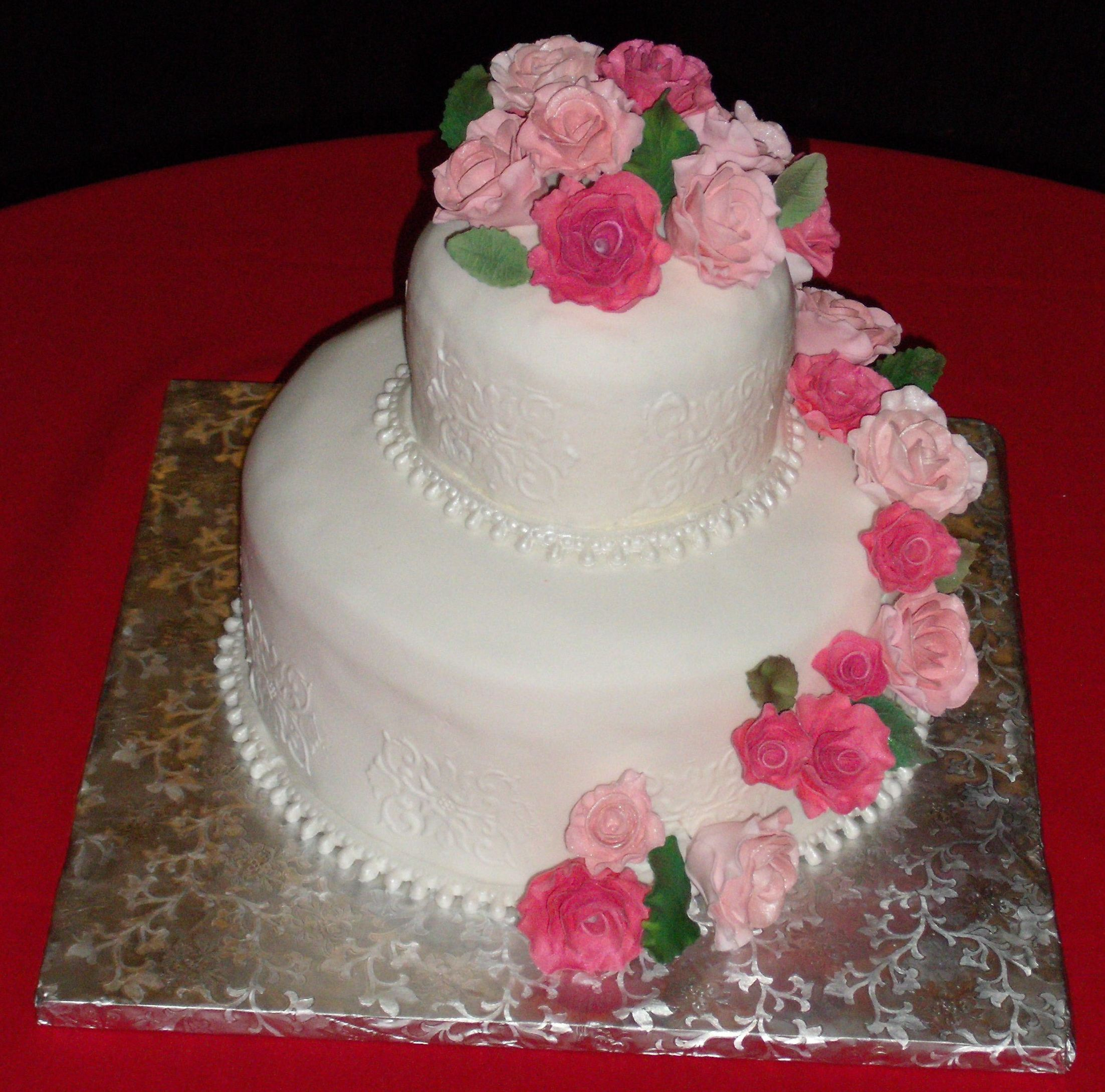 Pink  Layer Birthday Cake