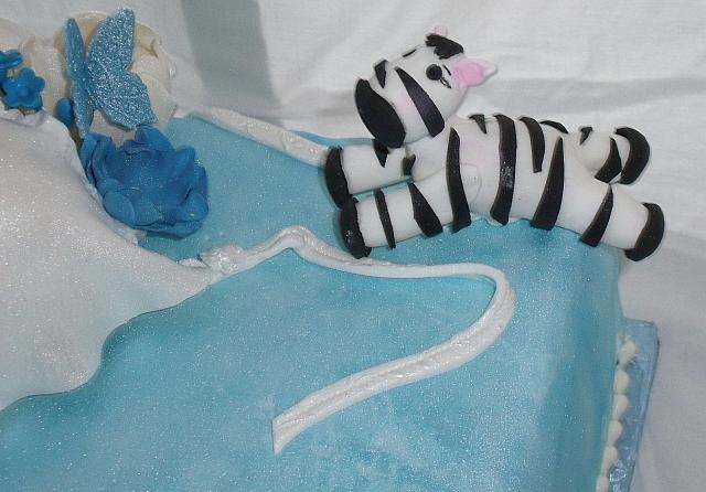 Pregnant Baby Shower close up of Zebra