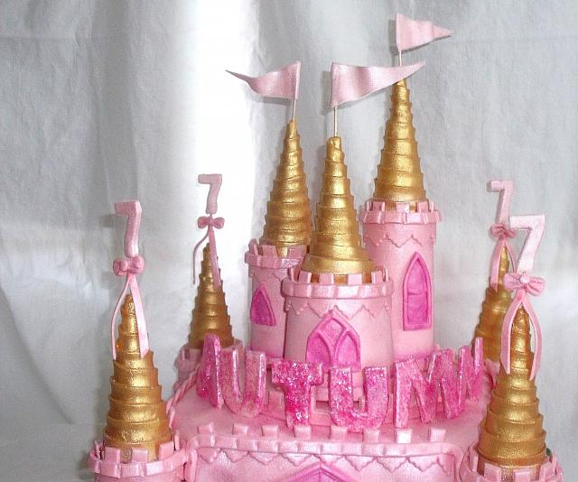 Pink and Gold Turrets close up