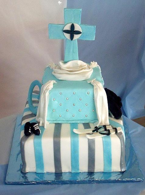 First Communion For Boy Cake main view