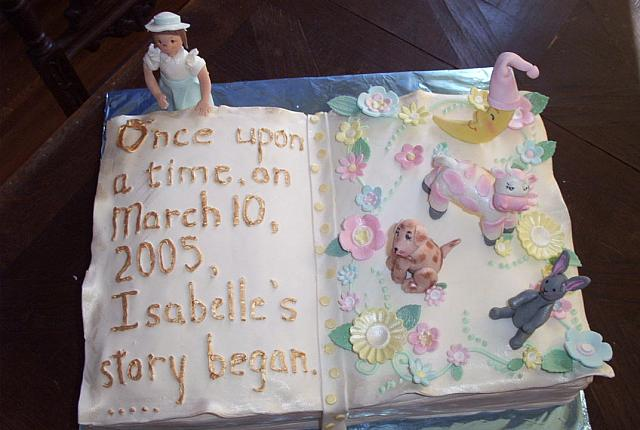 baby book cake top view