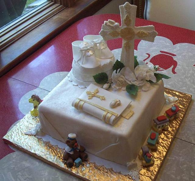 Baptism Cake For Boy View 2