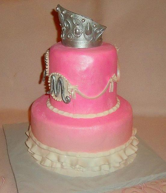 Princess or Cinderella Themed Fondant Cake right side
