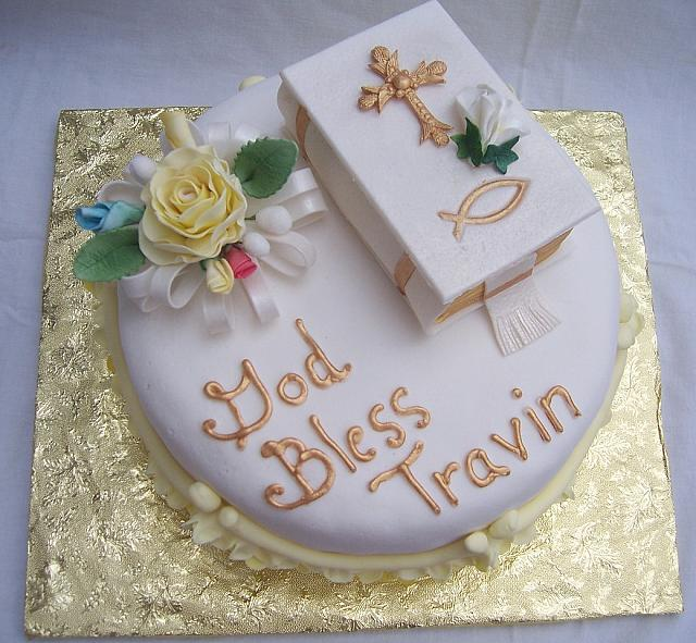 Christening Cake Top View