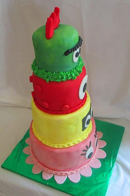 Yo Gabba Gabba Fondant Birthday Cake side view