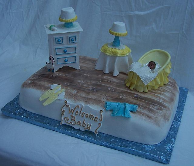 Baby Shower Bedroom cake side view