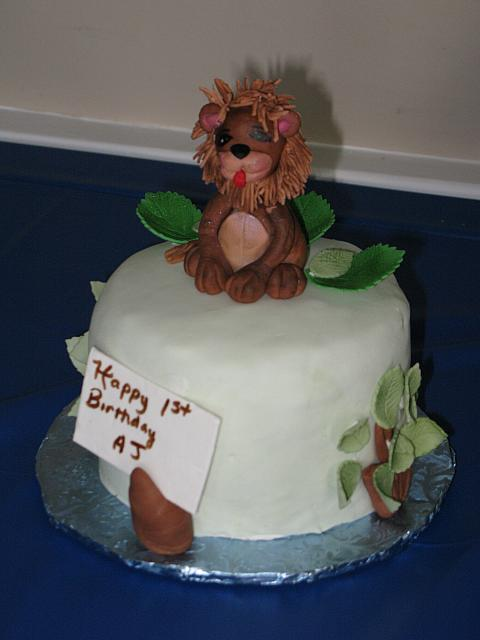 Safari Smash Cake with edible lion for baby boy