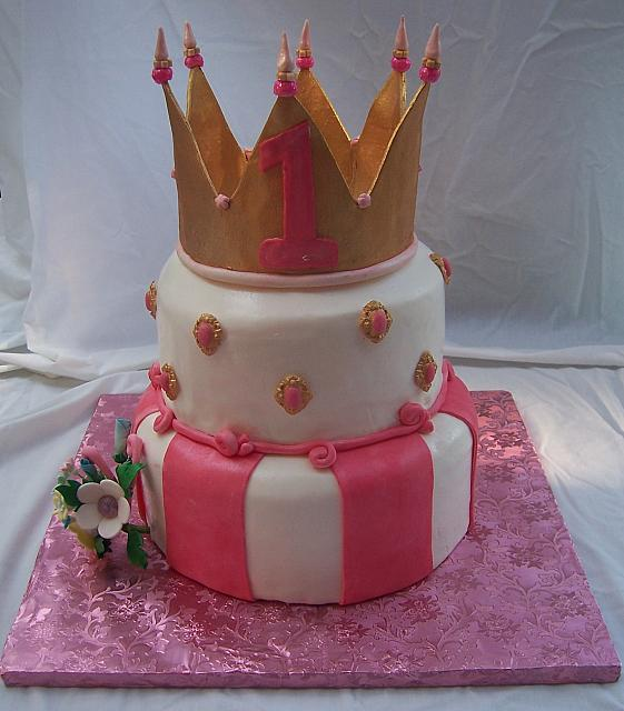 Princess Cake Without Happy Birthday sign