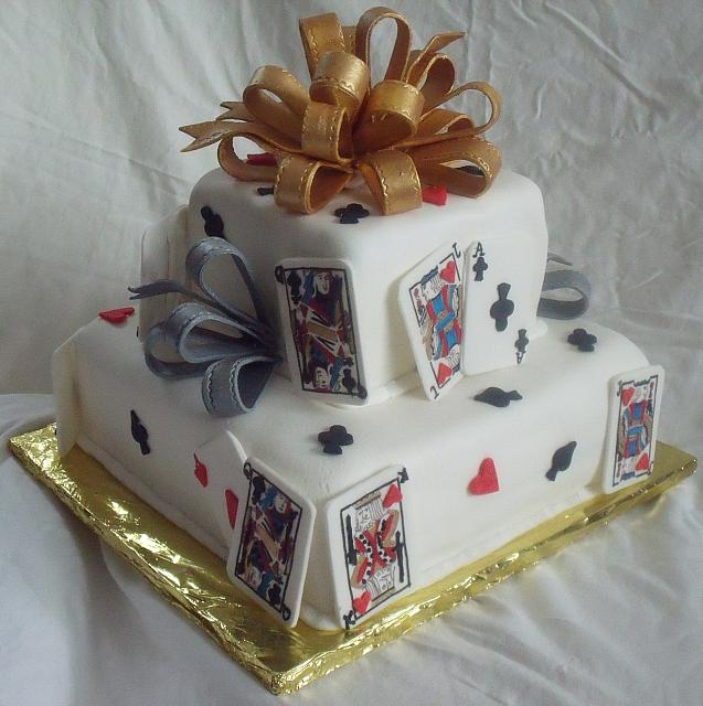 Poker Cake Or Playing Card Cake Back