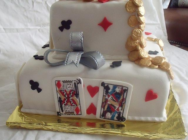 Poker Cake Or Playing Card Cake CloseUp 1