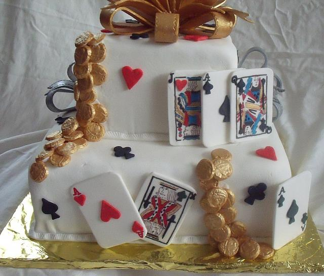 Poker Cake Or Playing Card Cake CloseUp 2