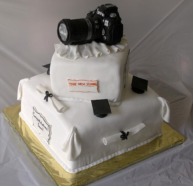Graduation Cake With Photography Hobby view 1