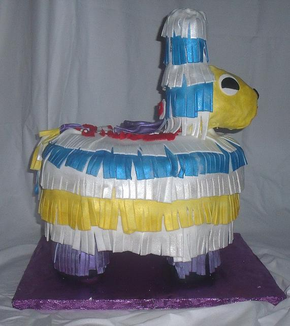 Pinata Cake Side View