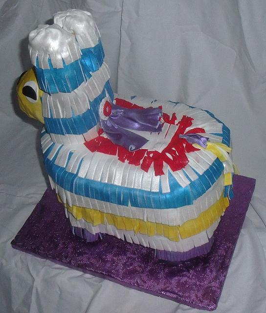 Pinata Cake Top View