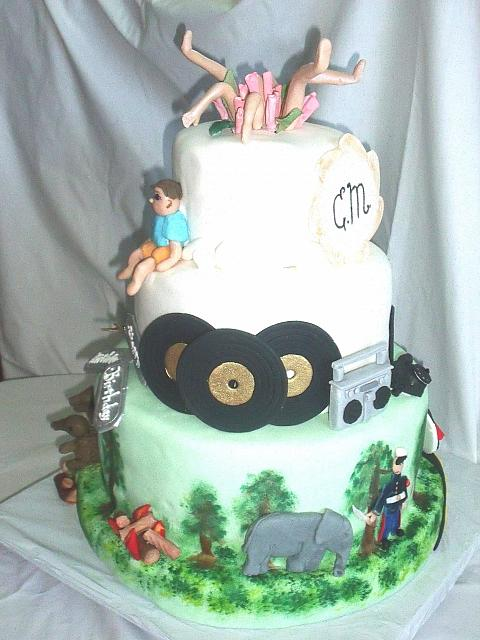 MultiThemed 40th Birthday Cake side 1