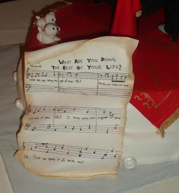 50th Anniversary Cake Edible Sheet Music view