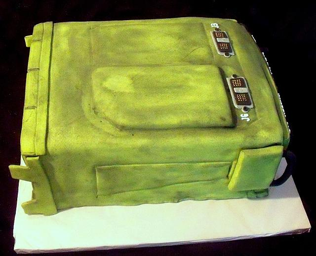 Military Radio Fondant Cake side view