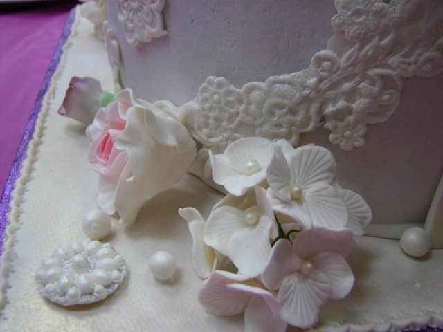 Gumpaste Hydrangea Flowers Close Up