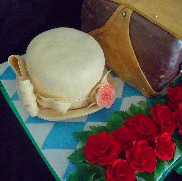 Kentucky Derby Horse Race Theme Fondant Cake close up