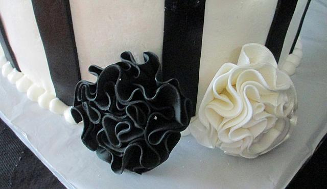 Whimsical Black White Fantasy Gumpaste FlowerClose Up