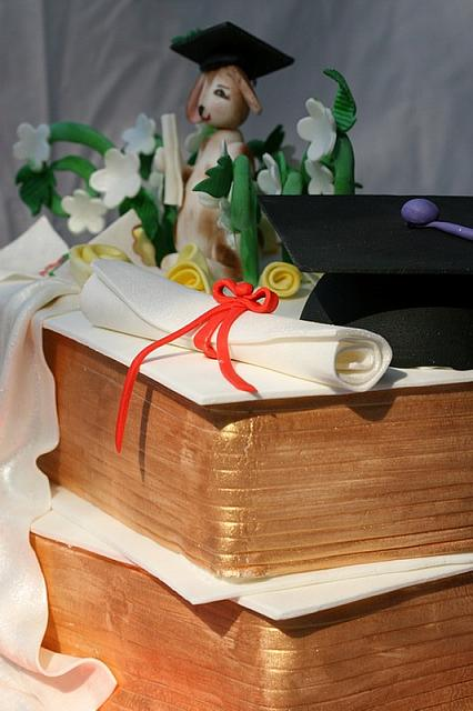 Side angle of Graduation Cake for Law School Grad
