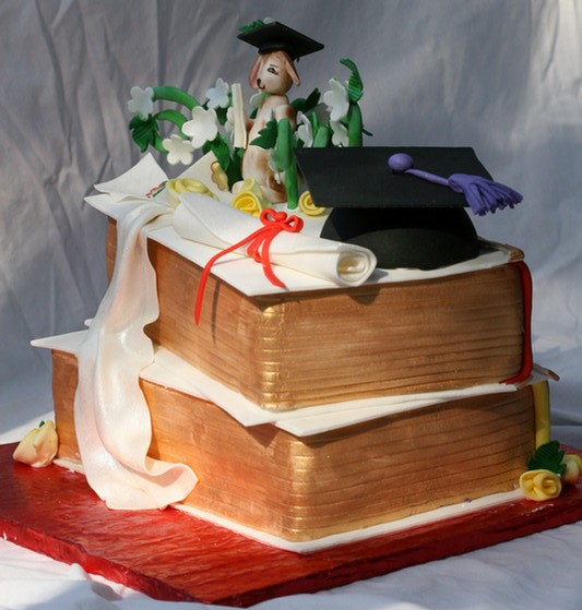 Side view of Graduation Cake for Law School Grad