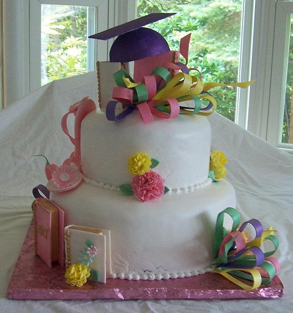 Дизайн тортов на выпускной