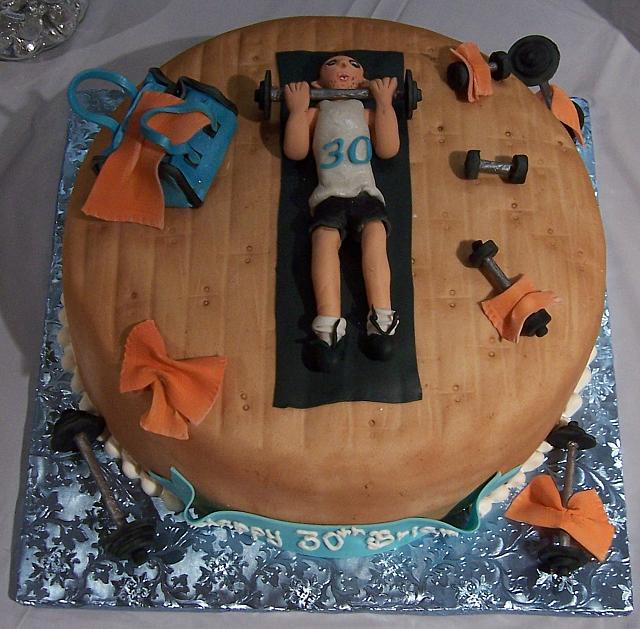 Weight Lifting novelty cake for Brian Moroni