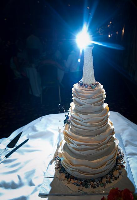 Mike Fisher Photography At 585-899-0686 Lighthouse Nautical Wedding Cake