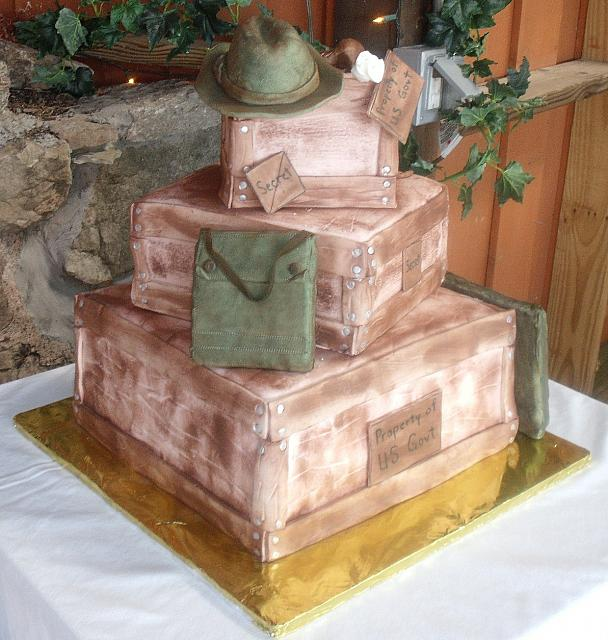 Indiana Jones Wedding Cake view 1