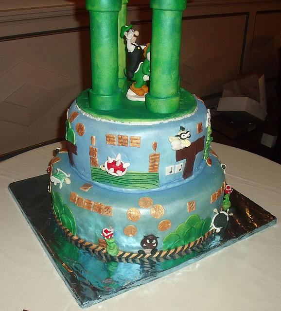 Video Game Themed Cakes http   tanyacakes com gallery3 index php    Video Game Wedding Cake
