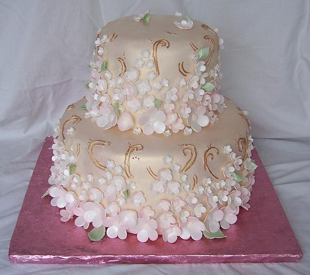Asian Brocade Cake View 1