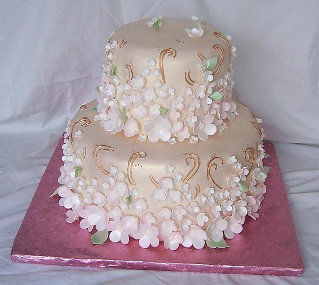 Asian Brocade Cake View 2