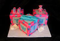 Baby Blocks Cake for Twins