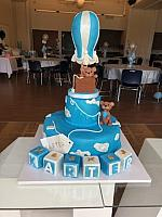 Baby Boy Shower Cake with Hot Air Balloon Theme