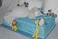 Pregnant Baby Shower Cake Jungle Theme side view