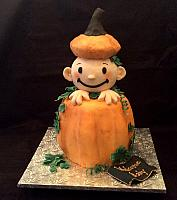 Baby Shower Theme Pumpkin Cake