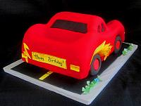 Cars Children Birthday Cake Back View